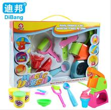 DiBang Soft Plastic DIY Handmade Magic Playdough Toys Tools Set Multicolor Polymer Clay Plasticine Molds Children Education Toy(China)