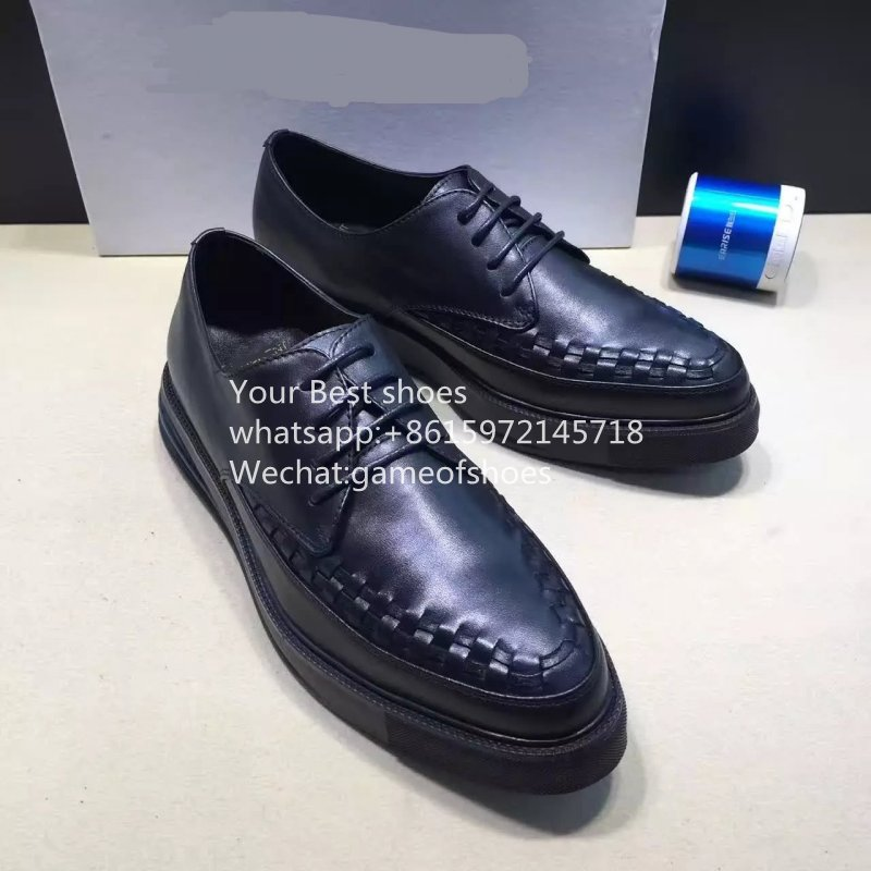 2016 fall Mens black leather oxfords flat shoes dress shoes for male lace up navy blue creeper round toe mens fashion shoes <br><br>Aliexpress