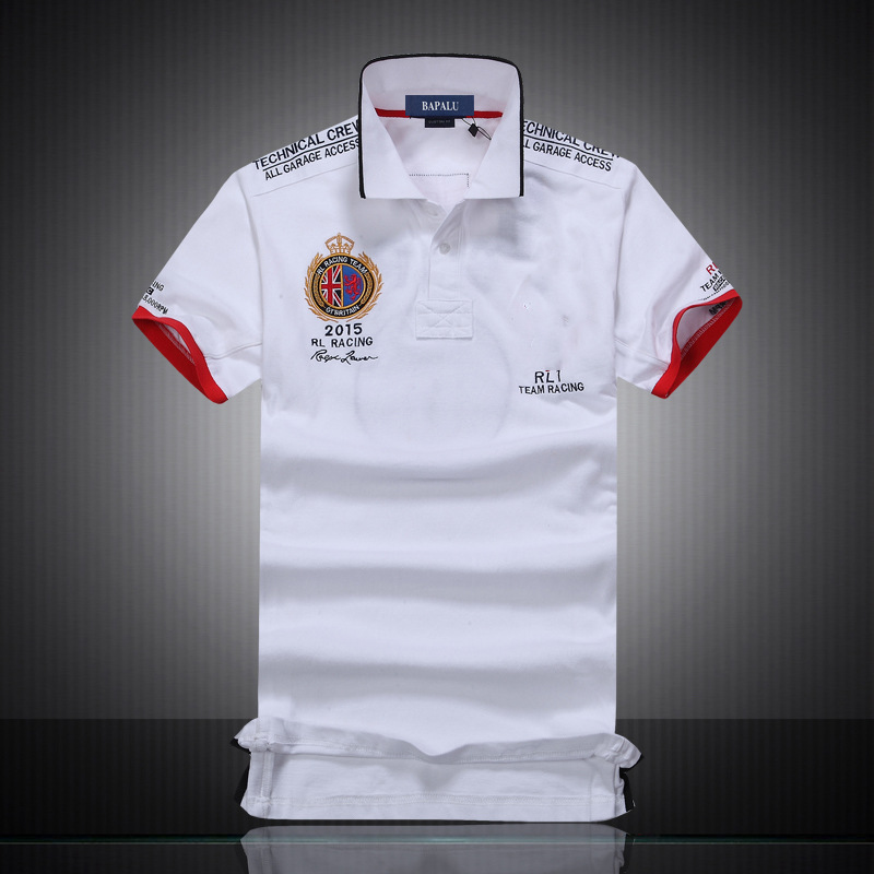 2019 New High Quality Turn-down England country embroidery men polo shirts with short sleeve breathable polo shirt for man