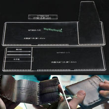 Men Trifold Wallet Acrylic 850 Templates Leather Craft Patterns DIY models Hobby(China)