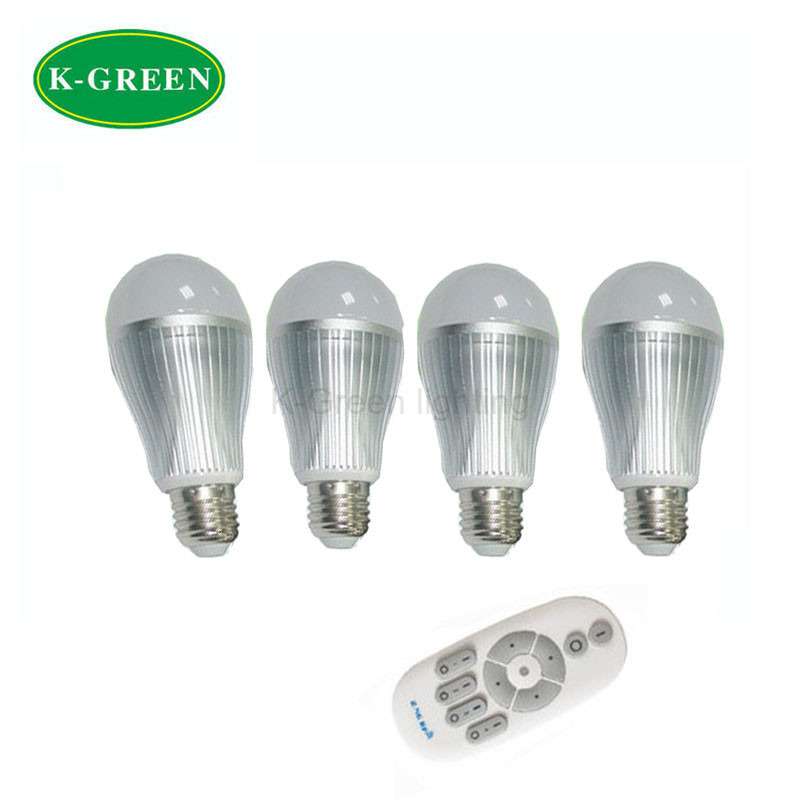10X Wholesale new design CCT 2800-6500k and brightness adjustable LED bulb 6W with 2.4G remote controller express free shipping<br><br>Aliexpress