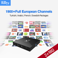 X96 Smart Android TV BOX 2G ram16G S905X STB with HD IPTV Channels Subscription 1 year IPTV Europe Arabic Spain Portugal Turkish