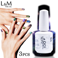 IDO Gelpolish 3 Pcs Set Chameleon Gel Products Colorful DIY Nail Polish Glitter UV Base & Top Gel Professional Color Varnish(China)