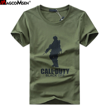 MAGCOMSEN Men T-shirts Summer Short Sleeve Solider Printing tshirts Military Army Tactical T-Shirts Top Tees Plus Size 5XL YZ-01(China)