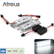 Atreus Car LED License Plate Lights 12V White SMD3528 Number Plate Lamp with Canbus For Opel Zafira B Astra H Corsa D Insignia(China)