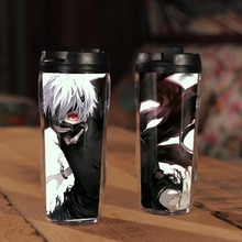 Japanese Anime Tokyo Ghouls Ken Kaneki Double Insulation Resin Plastic Mug Coffee Cup Space Cup
