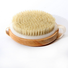 Natural bristles bristle brush Body Maasage Health Care Bath Brush for bath Shower Bristle Brushes Massage Body Brush with D5(China)