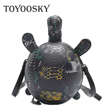 TOYOOSKY Personality PU Leather Turtle Handbag Women New Design Animal Shaped Phone Bags Tortoise Messenger Bag Famous Brand