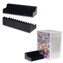2pcs/lot Game Card Box Storage Stand for Nintendo Nintend Switch NS Game Cartridge CD Disk Holder Support 24pcs CD Disks Card