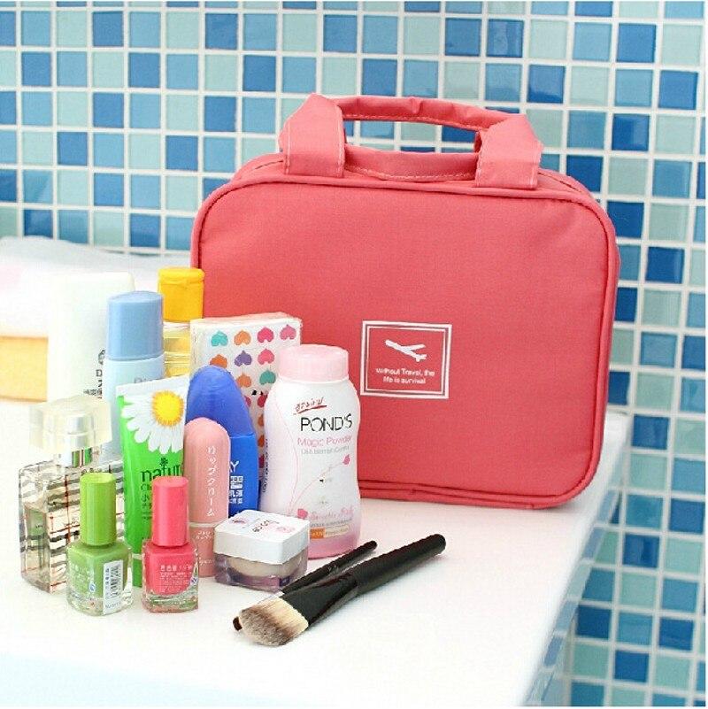 GENUOVE Travel Fashion Waterproof Cosmetic Case Large Capacity Portable Ladies Professional Makeup Bag Organizer Storage Bags
