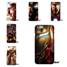 For iPhone X 4 4S 5 5S 5C SE 6 6S 7 8 Plus Galaxy Grand Core Prime Alpha Marvel Avengers iron Man Patterns Slim Silicone Case(China)