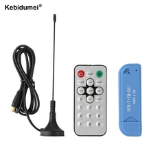 Mini Video Equipment TV Dongle DVB-T + DAB + FM RTL2832U + R820T2 Digital USB 2.0 TV Stick Support SDR Tuner Receiver + Antenna