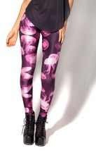 fashion BL-024 top sale brand milk Jellyfish Pink Leggings Women Clothing2017