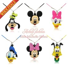 1PCS Mickey Minnie Necklace Cartoon Pendant Chain Collar Choker Pendant Fashion Jewelry For Women Boys Girls Hot Accessories