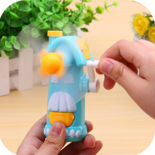 1Pc Hot sale Colorful Plastic Creative Windmill Shaped Mini Hand-operated Fan Children Kids Summer Cooling Educational Toys(China)