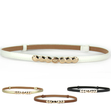 New Arriveing Accessories Decorative gold tone Alloy Buckle Paint thin belt girdle belt female belts for women ladie's girl