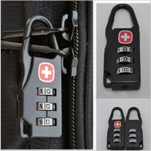 2pcs! Professional Safe Code Number Lock Padlock candados con llave for Suitcase Drawer Cabinet Luggage Zipper Bag(China)