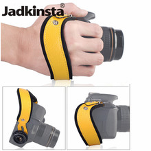 Jadkinsta Leather + Neoprene Camera Wrist Straps Grip with 1/4 Tripod Socket For DSLR Camera Hand Strap Gift for Family Lover(China)