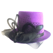 Purple Party Top Hat For Party Gift Halloween Party Accessories(China)