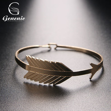 1 Pc New Summer Women Leaf Wristband Cuff Bracelet Simple Bracelet Fashion Jewelry Nice Gift For Women Three Color