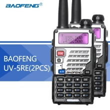 2PCS Baofeng UV5RE Walkie-Talkie UV5R Upgraded Version UHF VHF Dual Watch CB Radio VOX FM Transceiver for Hunting Radio(Hong Kong)