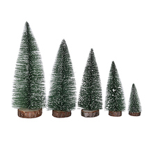 10-25cm Mini Christmas Tree Artificial Christmas Trees Tabletop Tree Assorted Pine Trees Christmas Xmas Decoration For Home