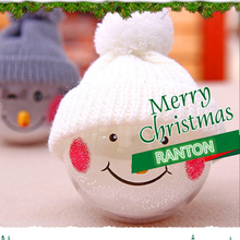 Buy New fashion Snowman transparent Christmas ball Christmas tree hanging decorations Hotel Mall window ornamentations for $5.86 in AliExpress store