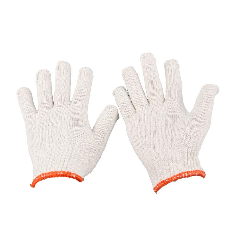 1 Pair Breathable Elastic String Knit Veil  White Cotton Construction Site Work Gloves Factory Labour Gloves<br><br>Aliexpress