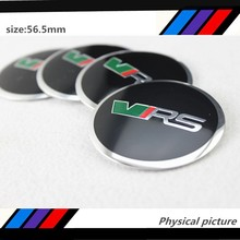 40pcs 56.5mm Skoda VRS RS Car Auto Wheel Centre Hub Emblem Sticker for Fabia Yeti(China)