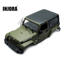 Olive Green RC Rock Crawler 1:10 Jeep Wrangler Rubicon Car Shell for Axial SCX10 Tamiya CC01 RC4WD D90 Hard Plastic Car Body