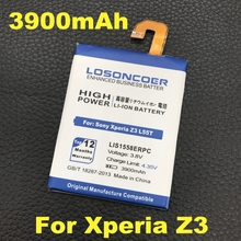 LOSONCOER 3900mAh LIS1558ERPC Phone Battery For Sony Xperia Z3 battery L55T L55U D6653 D6603 D6633 D5803 D5833 D6616 D6708 Phone