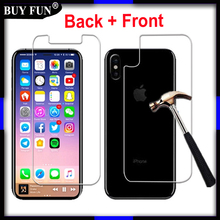 Back + Front Tempered Glass For iPhone X Screen Protector for Apple iPhone ayfon I X 10 Case For iPhonex Ix Film Glass case(China)