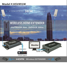 3KM Maximum Wireless extender distance 891w wireless HDMI Extender transmittrer &receiver wireless extender HDMI signal