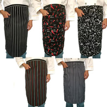 1Pcs/set Cool Stripe Half Apron with 1 Pockets Chef Waiter Kitchen Fashion Cooking Aprons for Men Women