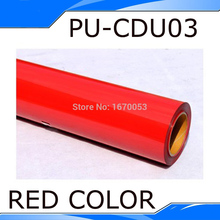 Shipping Cost One Roll(25 meters) Red Color Heat Transfer Vinyl Heat PU Vinyl Heat Transfer film T-shirt Transfer Vinyl(China)