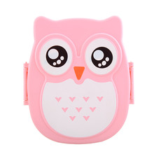 900ML PP Cute Owl food box Food Fruit Storage Container Portable Food Picnic Container 16 * 13 * 6.5 cm 4 Color 1Pcs