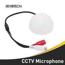 Golf Type CCTV Audio Microphone Surveillance Wide Range Audio Sound Pickup  Monitor for Security Camera