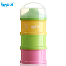Buy 3 Layer Baby Infant Feeding Milk Powder Milk Container Storage Feeding Box Food Bottle Contain Pink+Yello+Green FJ88 for $4.73 in AliExpress store