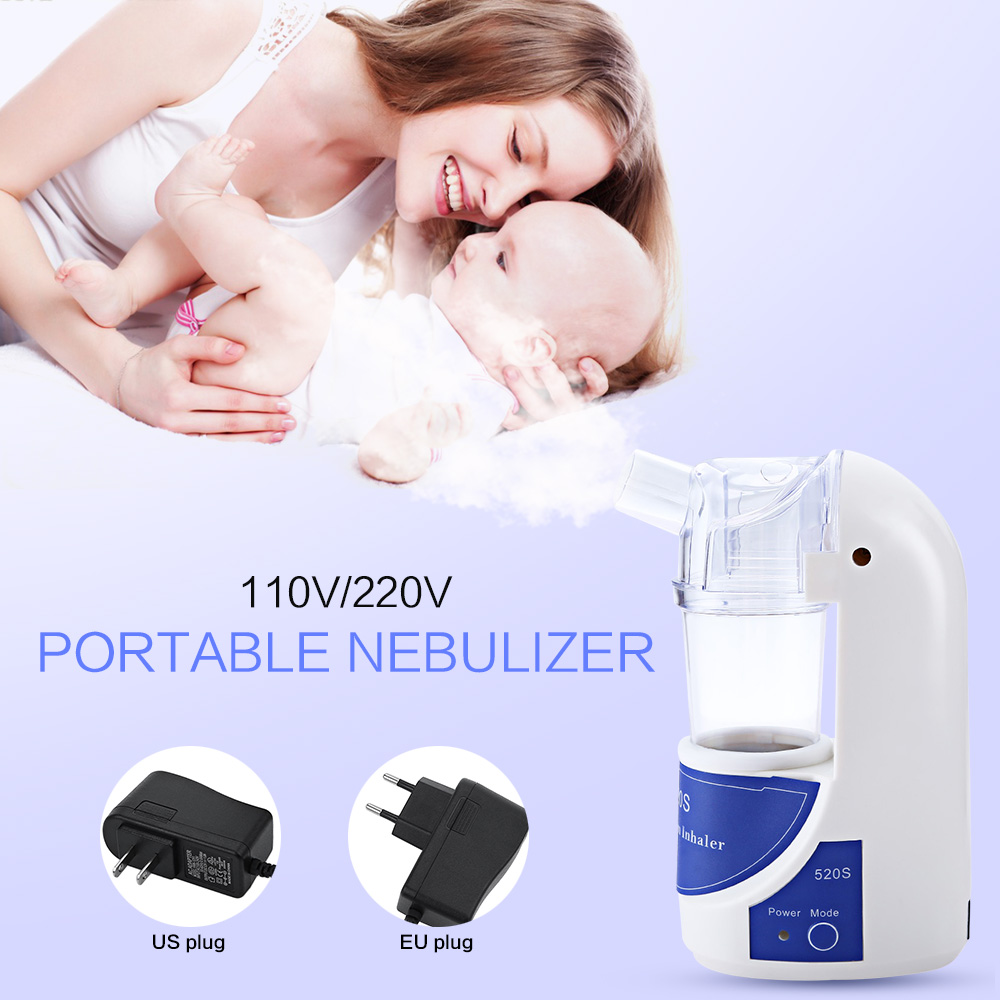 110V/220V Portable Home Health Care Atomizer Beauty Instrument Children Care Inhale Nebulizer Humidifier White EU US Plug<br><br>Aliexpress