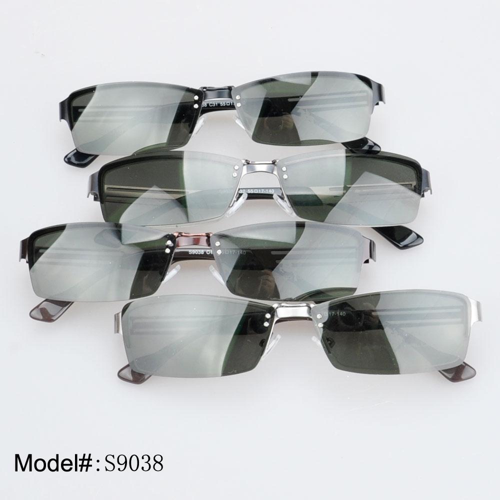 S9038 summer hot sale  half-rim  polarized  clip-on sunshades sunglasses    UV400<br><br>Aliexpress