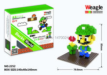 Drop price Hot Weagle small diamond building blocks children assembled toys wholesale Mario Set Educational Bricks Gift(China)
