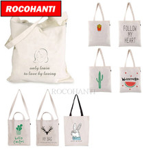 50PCS Custom Eco Design 100% Organic Cotton Grocery Bags Reusable Custom Shopping Totes 12-oz F2116