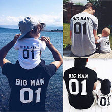King Queen Princess Prince Family Mother And Daughter Dad Son Letter T-Shirts Family matching outfits 01 Number Tops Tees