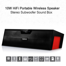Sardine Wireless Bluetooth Speaker FM Radio 10W HiFi Portable Stereo Subwoofer Car TV Speakers PK Bluedio BS-3 J-BL SL-1000s