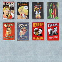 Vodka Real Cool Metal Tin sign Bar Decor Beer Sign Vintage Wine Plague Beverage for Pub Party Wall Stickers Decor