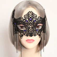 Venetian Mask Sexy Black Fancy Dress Tassel Lace Masquerade Ball Prom Gags & Practical Jokes TH0021