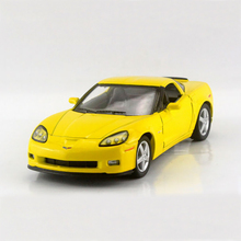 Corvette Z06 Yellow 1/36 alloy models model car Diecast Metal Pull Back Car Toy For Gift Collection