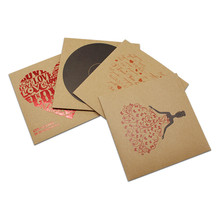 12.5x12.5cm 280Pcs/Lot Brown Kraft Paper CD Case Bag Party Favor CD/DVD Kraft Envelopes Natural Plain Gift Bags Wholesale