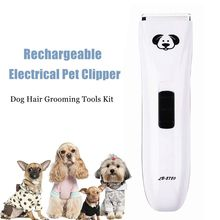 Professional Electrical Pet Hair Clipper Grooming Tools Kit Rechargeable Cat Dog Trimmer Shaver Set Haircut Machine Rechargeable(China)