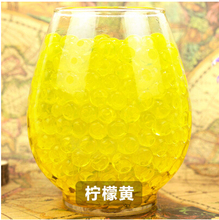 New Golden Transparent color 100pcs/Bag Crystal Mud Soil Water Beads Bio Gel Ball For Flower/Weeding/Decorative(China)